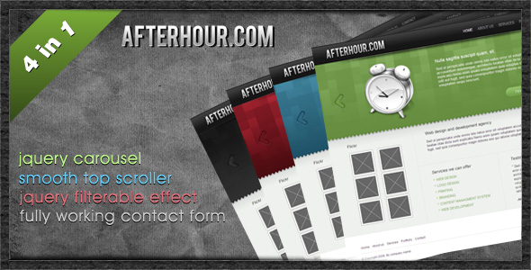 Free Download Professional Portfolio Template - Afterhour Nulled Latest Version