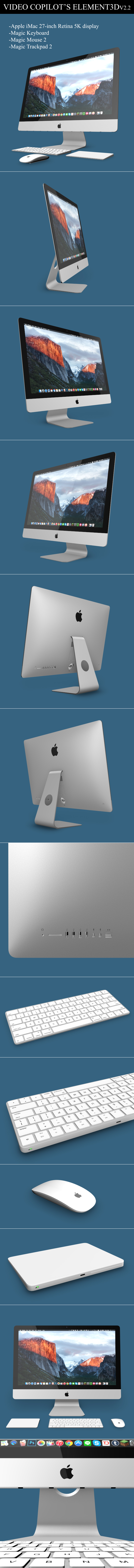 Element3D - iMac 2015 (Retina 5K 27-inch) - 3DOcean Item for Sale