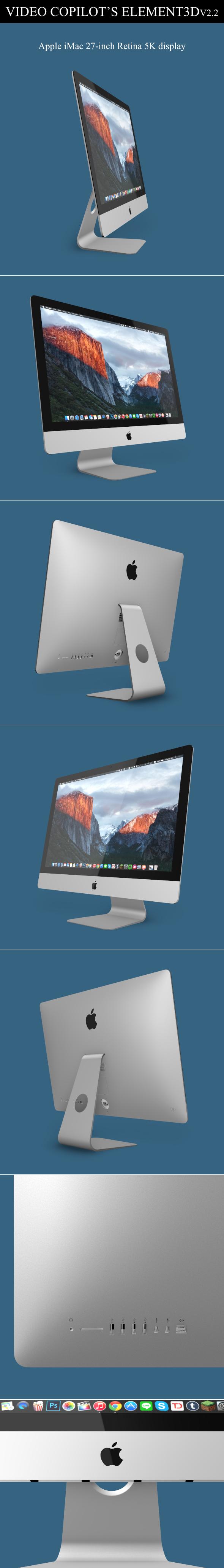 Element3D - iMac Retina 5K 2015 - 3DOcean Item for Sale