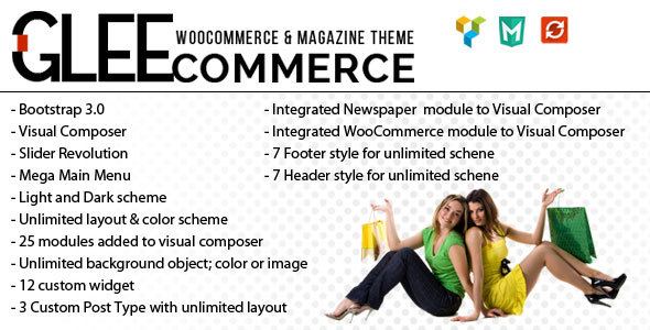 GleeCommerce – Multiconcept Woo and Magazine Theme