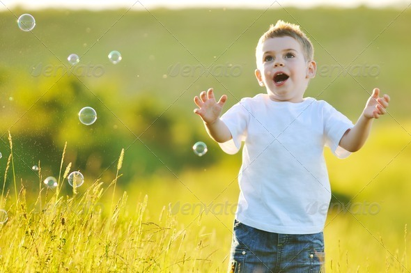 child bubble - Stock Photo - Images