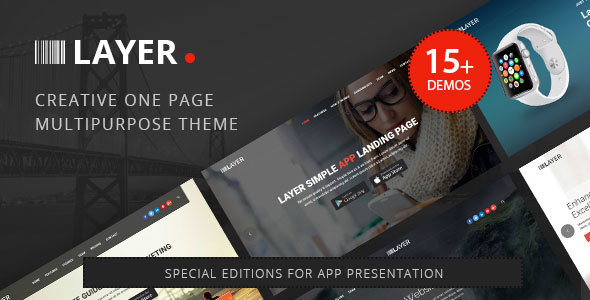 Layer –  Huge Collection of Landing Pages