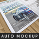 Automotive Tabloid Advertisement Mockup - GraphicRiver Item for Sale