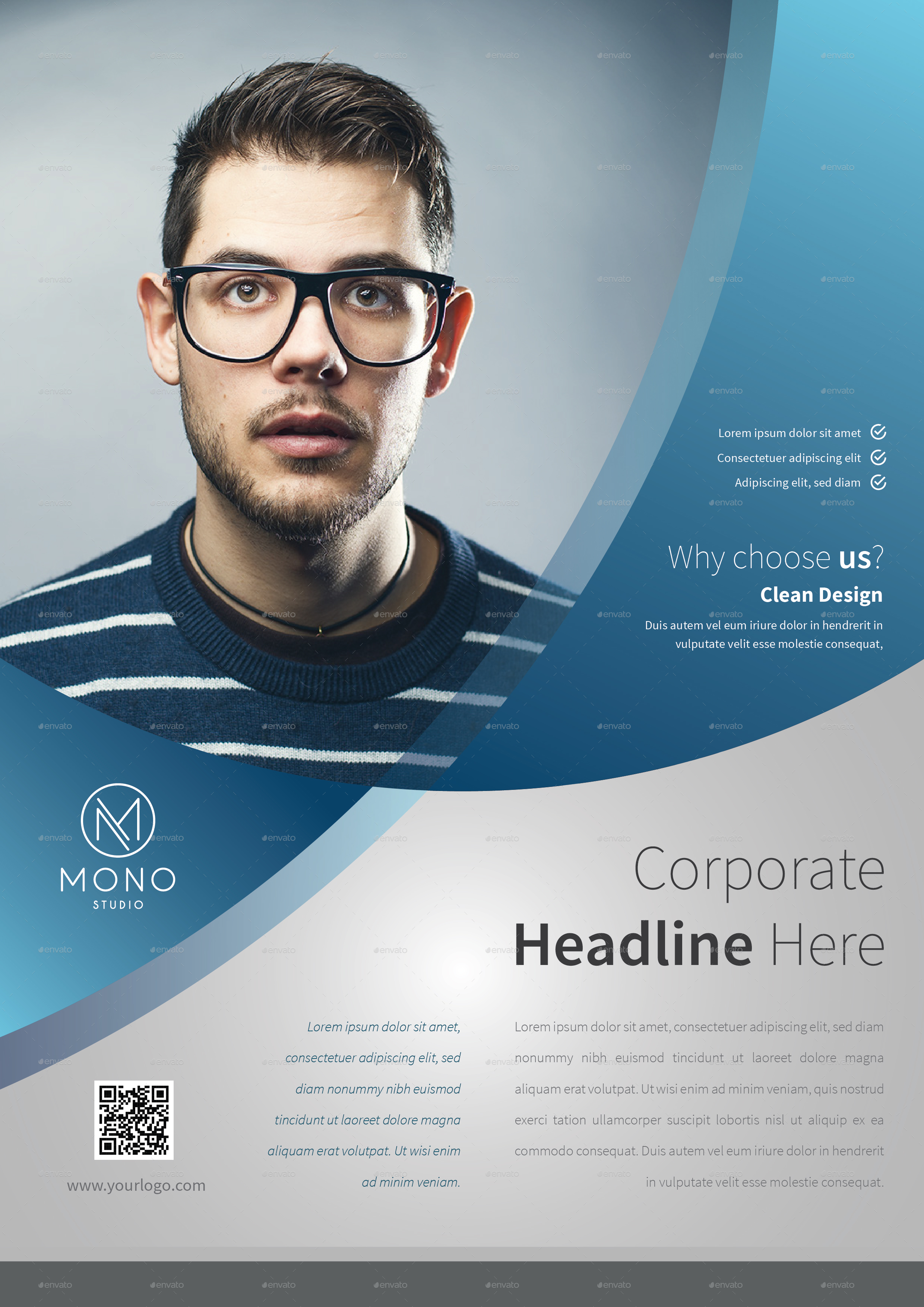 Corporate Flyer Template Set 9 By Monogrph Graphicriver