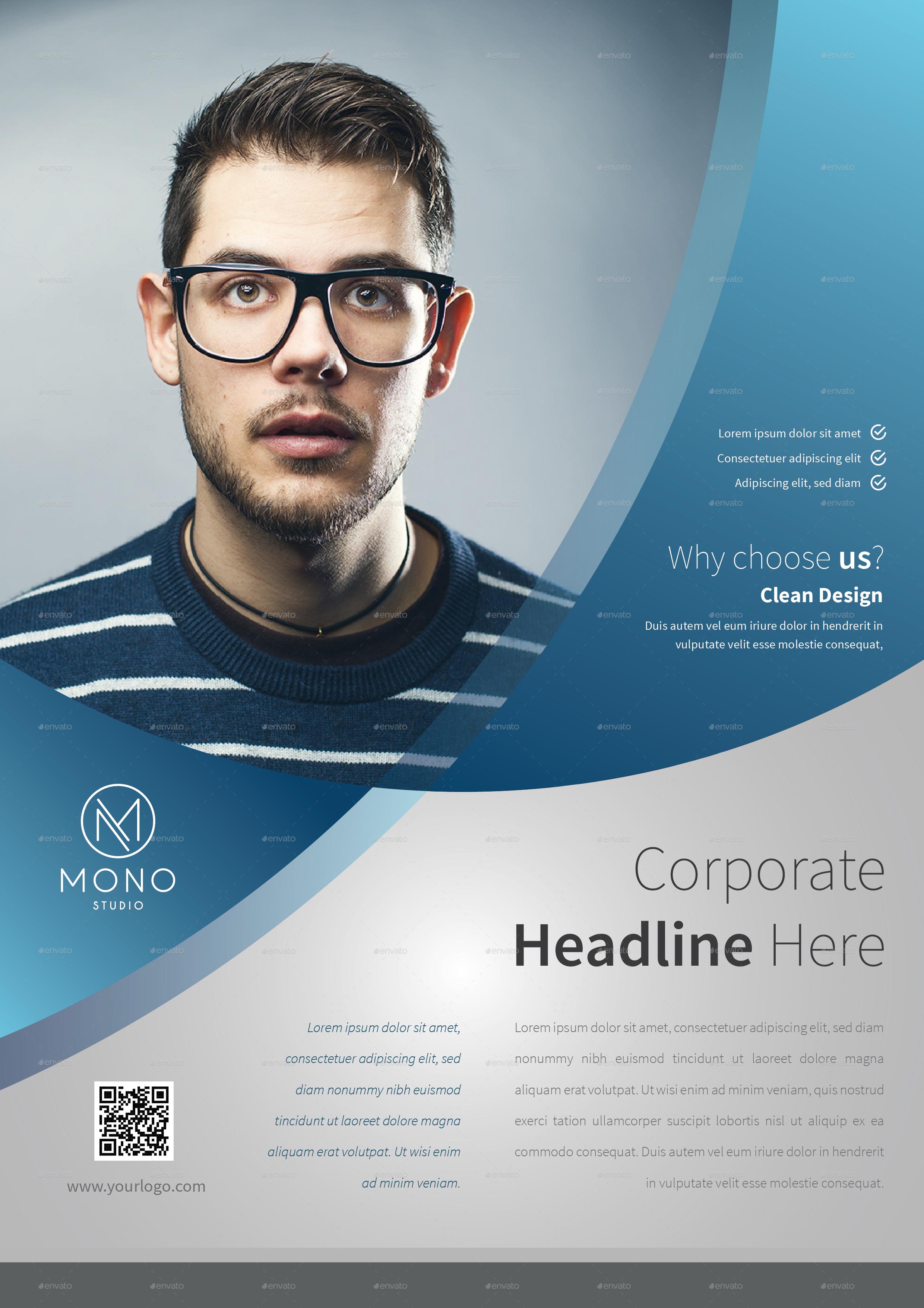 Corporate Flyer Template | Corporate Flyer Template Set 9 By Monogrph Graphicriver