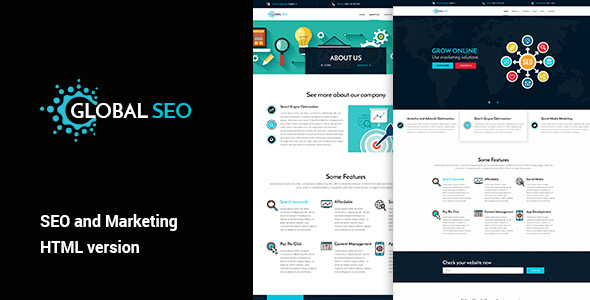 GLOBAL SEO – Marketing and SEO HTML Template