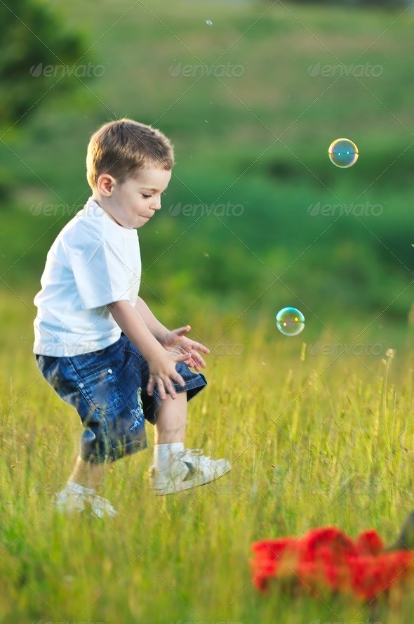 child bubble - Stock Photo - Images