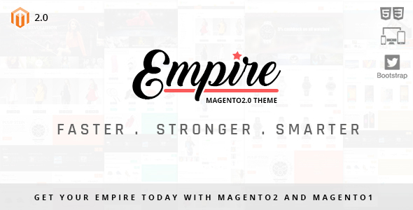 Empire - Magento 2 and 1 theme - Magento eCommerce