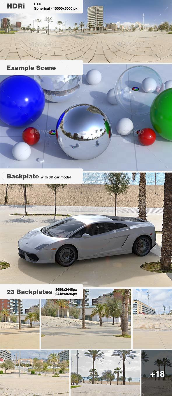 HDRi 005 - Exterior - Beach + Backplates - 3DOcean Item for Sale