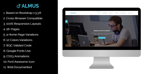 Almus – Creative Portfolio Template