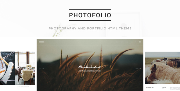 Photofolio - Photography & Portfolio HTML Template - Photography Creative