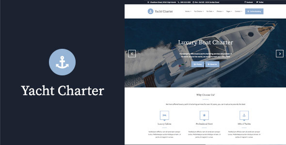 Yacht Charter - WordPress Theme - Travel Retail