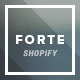FORTE - Responsive Shopify Template - ThemeForest Item for Sale
