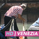 Gondolier Rows Narrow Canal with Bridges - VideoHive Item for Sale