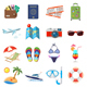 Vacation and Tourism Flat Icons Set - GraphicRiver Item for Sale