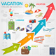 Vacation Timeline Infographics - GraphicRiver Item for Sale