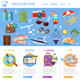 Vacation and Tourism Infographics - GraphicRiver Item for Sale