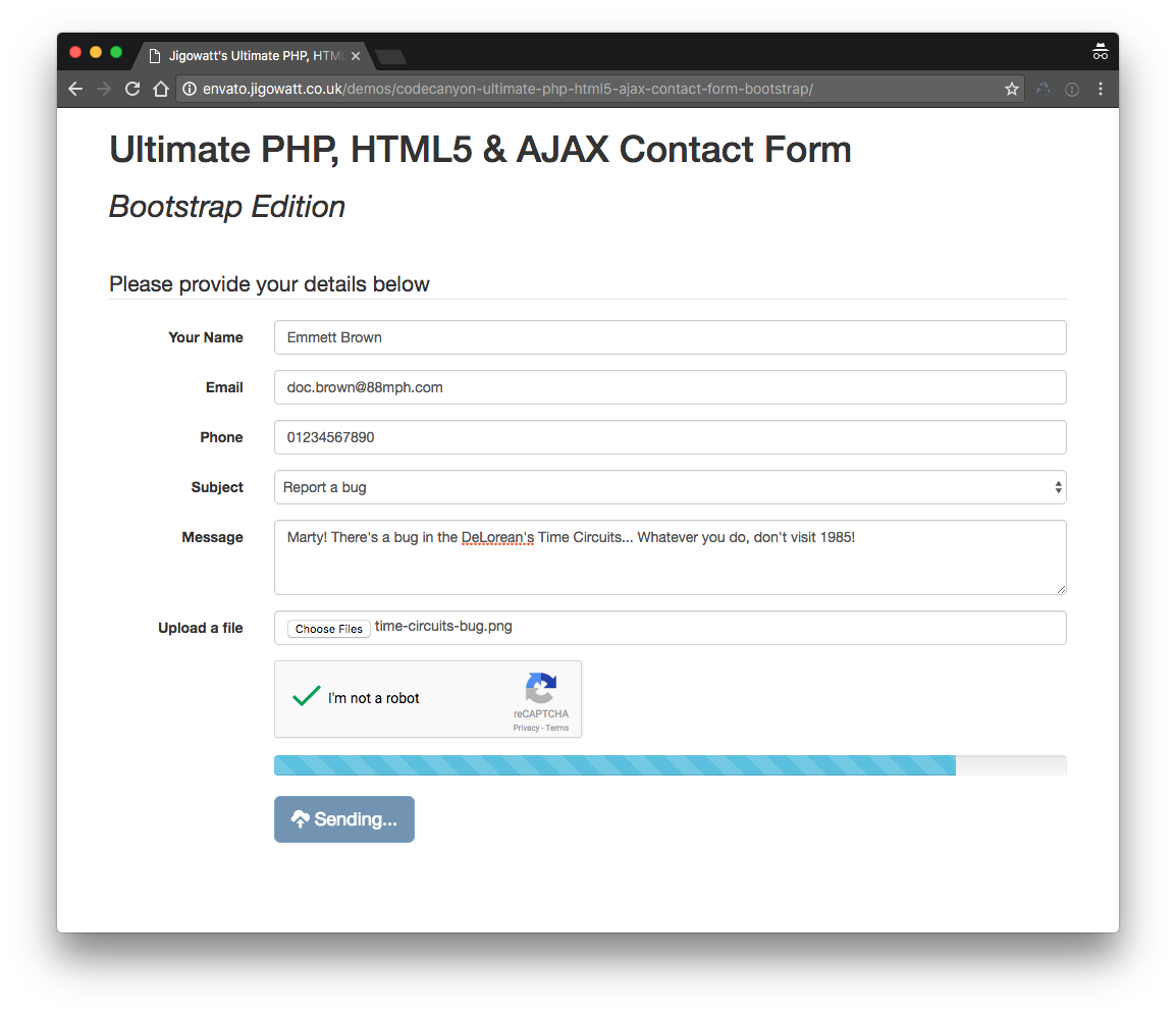 Ultimate PHP, HTML5 & AJAX Contact Form (Bootstrap Edition) by ...