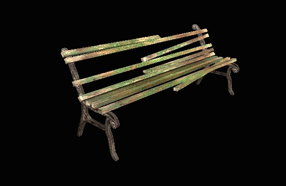 Rusted Bench - 3DOcean Item for Sale