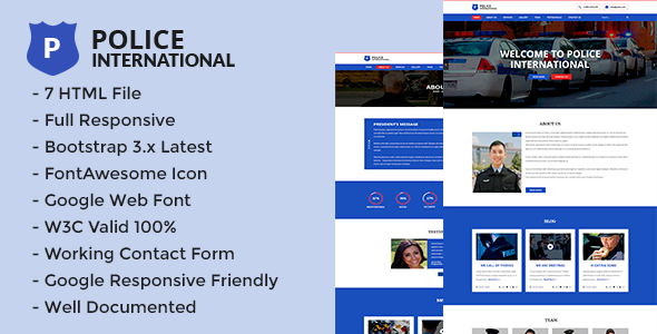 Police – HTML5 Multi Page Security Agency Template.