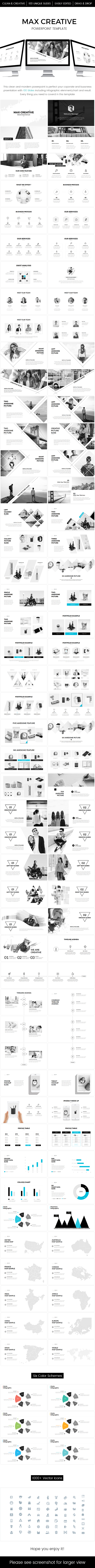 Max Creative Powerpoint Template - PowerPoint Templates Presentation Templates