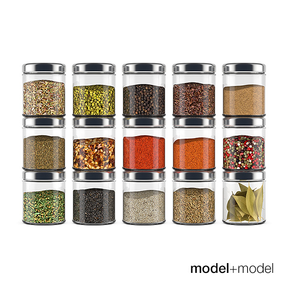 Spice bottles - 3DOcean Item for Sale