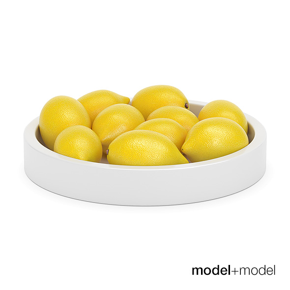 Lemons in a ceramic bowl - 3DOcean Item for Sale
