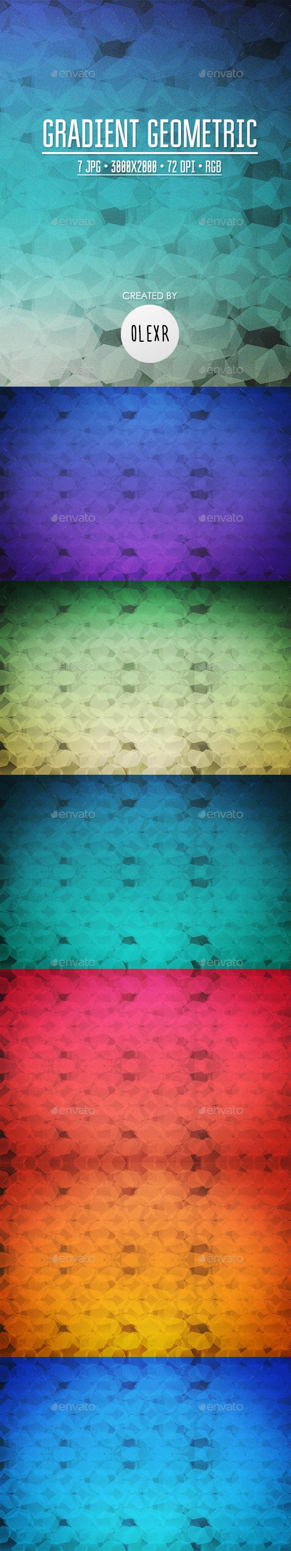 Gradient Geometric Backgrounds