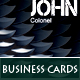 4 Modern Military Business Cards - GraphicRiver Item for Sale