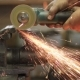 Worker Cutting Metal Workpiece With Circular Saw - VideoHive Item for Sale