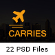 Carries Transportation and Logistics PSD Template - ThemeForest Item for Sale