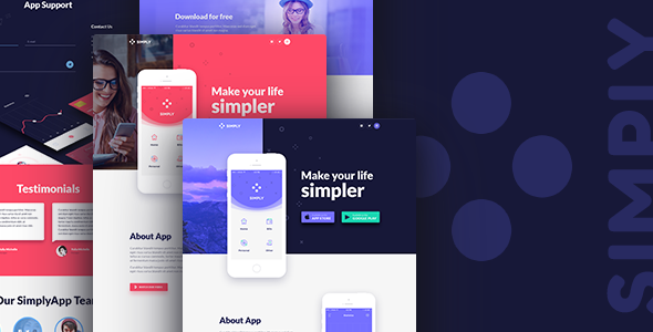 Simply | App Landing HTML Template - Software Technology