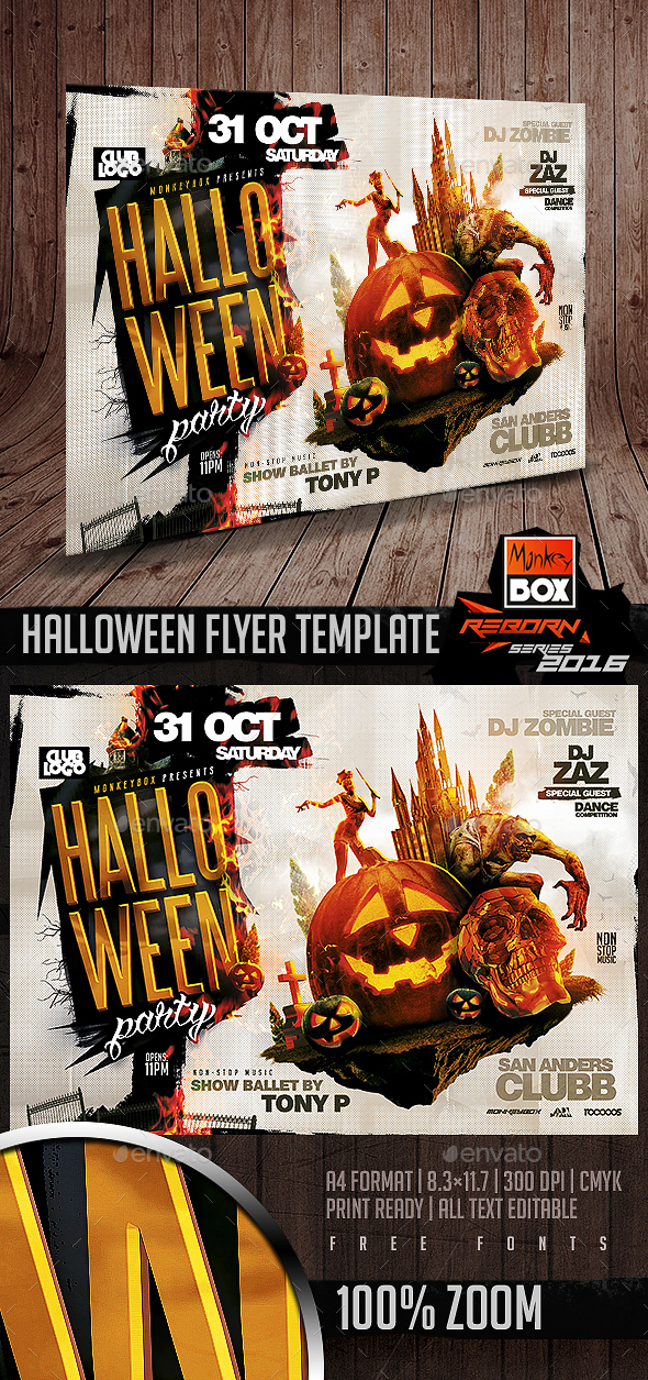 Monkeybox Flyer Templates From Graphicriver Page