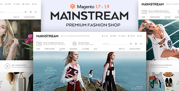 Mainstream – Responsive Magento Theme