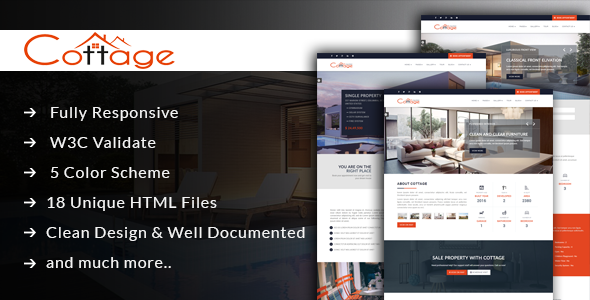 Cottage – Single Property HTML Template