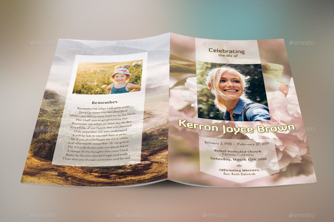 Adventure Small Funeral Program Template by Godserv2 – Funeral Cards Template