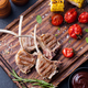 Lamb ribs grilled with vegetables Top view - PhotoDune Item for Sale