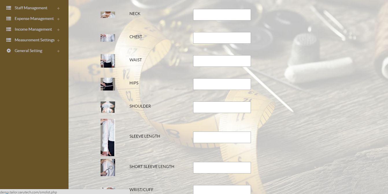 Tailor Fashion Designer Management System