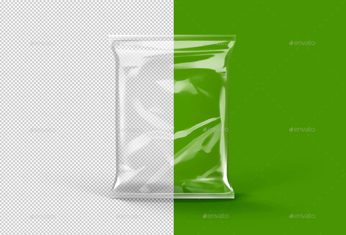 Transparent Foil Pouch Packaging Mock-Up by tirapir   GraphicRiver