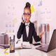 Worried Business Girl in The Office - VideoHive Item for Sale