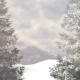 Snow Falling In The Mountains - VideoHive Item for Sale
