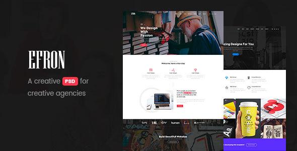 Efron – Creative PSD Template