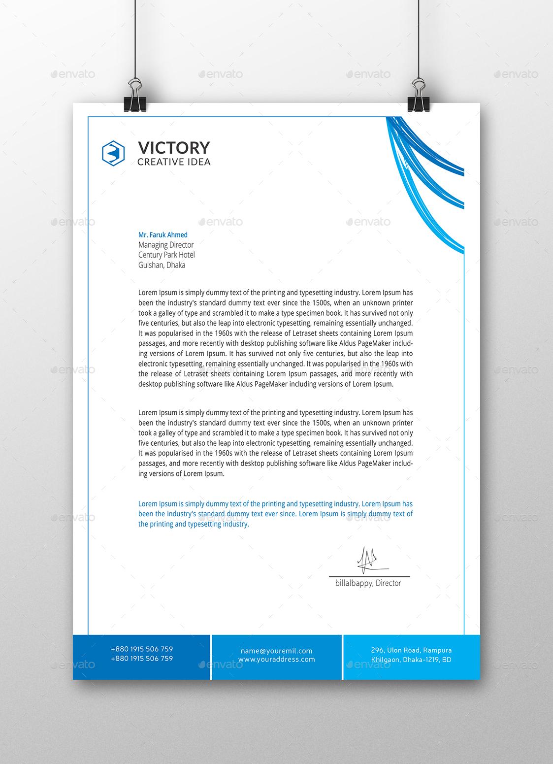 Corporate Letterhead by billalbappy – Corporate Letterhead