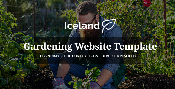 Iceland - Garden, Landscape Responsive Site Template - Business Corporate