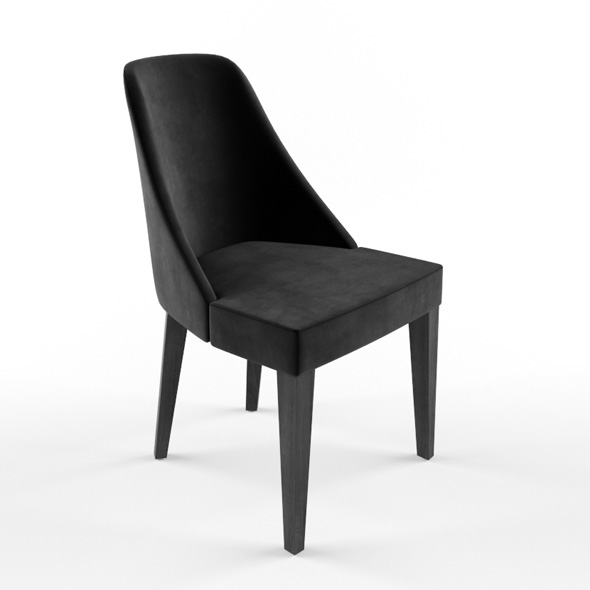 black velvet chair - 3DOcean Item for Sale