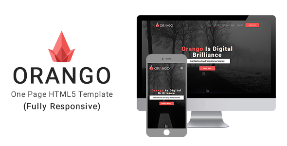 Orango One Page Responsive HTML5 Template