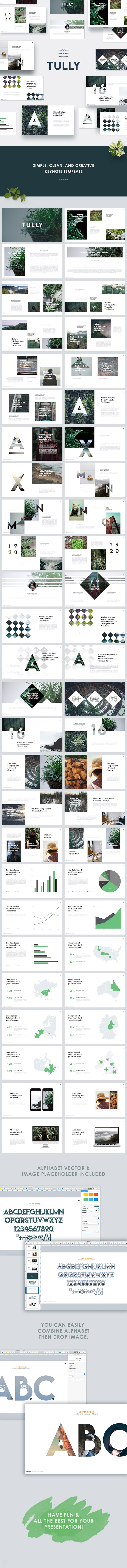 Tully - Clean Keynote Template - Keynote Templates Presentation Templates