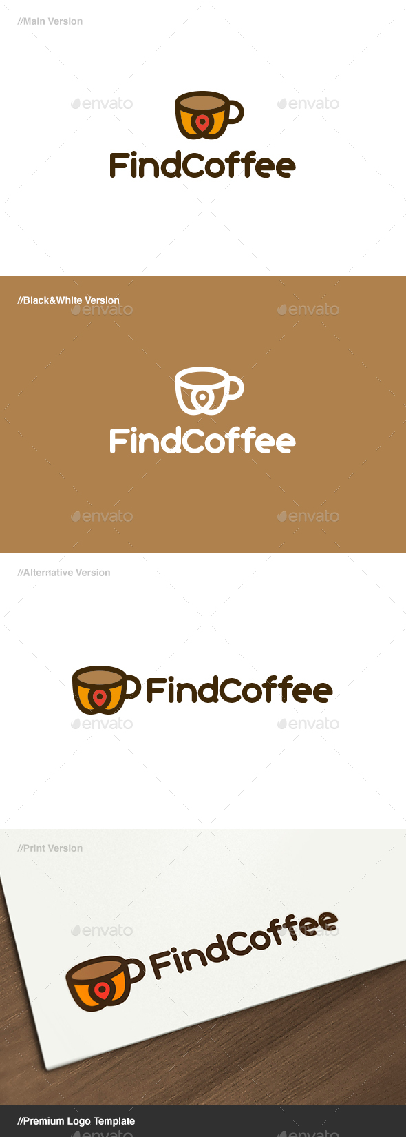 Find Coffee Logo - Food Logo Templates