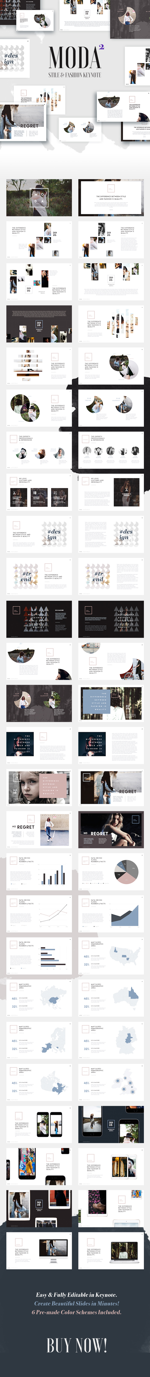 Moda 2 - Fashion & Style Keynote Template - Keynote Templates Presentation Templates