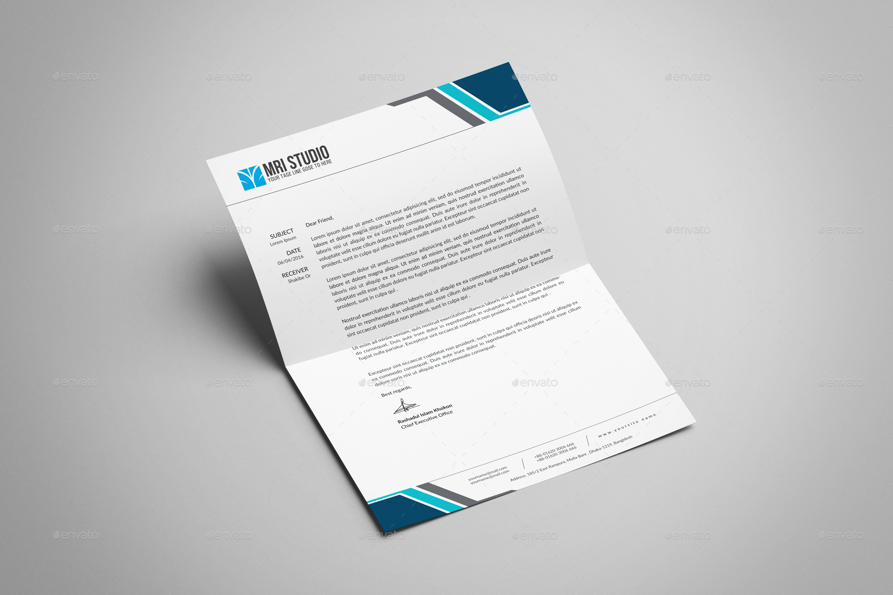 Letterhead design template by mrikhokon graphicriver letterhead design template stationery print templates preview image set1g spiritdancerdesigns Choice Image